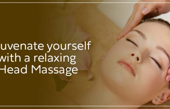 Rejuvenate yourself with a relaxing head massage