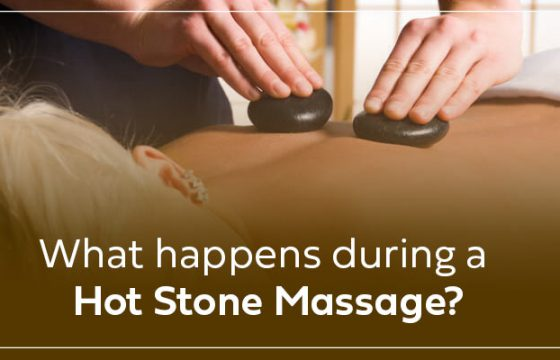 What happens during a hot stone massage?